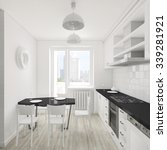 modern interior of the kitchen... | Shutterstock . vector #339281921
