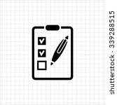 icon of checklist on clipboard... | Shutterstock .eps vector #339288515