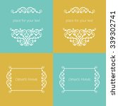 vector decorative frame.... | Shutterstock .eps vector #339302741
