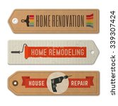 set of home remodeling logos... | Shutterstock .eps vector #339307424