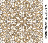 seamless pattern of gold lace... | Shutterstock .eps vector #339310175