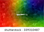 multicolor dark geometric... | Shutterstock .eps vector #339310487