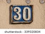 vintage metal house number on...   Shutterstock . vector #339320834