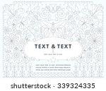 flat linear geometrical of... | Shutterstock .eps vector #339324335