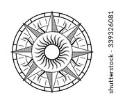 compass rose symbol | Shutterstock .eps vector #339326081