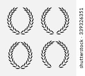 set icon laurel wreath   vector ... | Shutterstock .eps vector #339326351