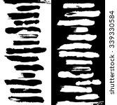 black and white vector brushes... | Shutterstock .eps vector #339330584