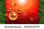 Christmas Background Red With...