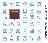 outline web icon collection  ... | Shutterstock .eps vector #339331124