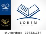 book logo vector | Shutterstock .eps vector #339331154