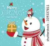 vintage christmas poster design ... | Shutterstock .eps vector #339337811