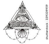 Eye Pyramid Black