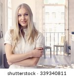 attractive casual caucasian... | Shutterstock . vector #339340811