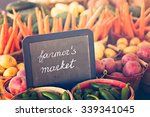 fresh produce on sale at the... | Shutterstock . vector #339341045