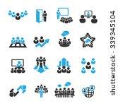 meeting icons vector | Shutterstock .eps vector #339345104