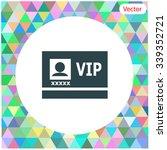 vip badge vector icon