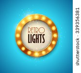 retro banner with shining... | Shutterstock .eps vector #339356381