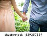 Happy Love  Couple Holding...