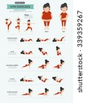 gym exercises strong core... | Shutterstock .eps vector #339359267