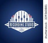recording studio logo template   Shutterstock .eps vector #339360881