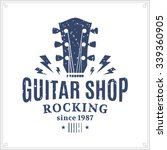 Retro Styled Guitar Shop Logo...