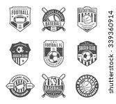 set of retro styled sport team... | Shutterstock .eps vector #339360914