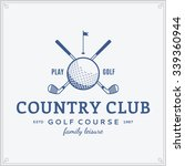 Vector Golf Country Club Logo