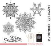 snowflakes  . t shirt design or ... | Shutterstock .eps vector #339362069