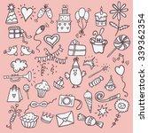 hand drawn happy birthday... | Shutterstock .eps vector #339362354