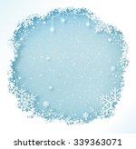 Blue And White Christmas Frame...