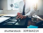 close up  business man or... | Shutterstock . vector #339364214