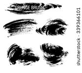 vector set of grunge brush... | Shutterstock .eps vector #339366101