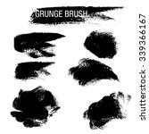 vector set of grunge brush... | Shutterstock .eps vector #339366167
