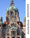 Stock photo new town hall rathaus in hanover germany 339370295