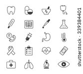 medical and health care icons... | Shutterstock .eps vector #339384401
