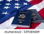 united states passports on top...