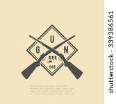 shotgun with bullets | Shutterstock .eps vector #339386561