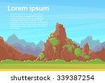 orange mountain red rock blue... | Shutterstock .eps vector #339387254