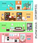 set of colorful vector interior ... | Shutterstock .eps vector #339389531