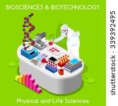 clinic nanotechnology clinical... | Shutterstock .eps vector #339392495