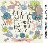 vector alphabet with cute... | Shutterstock .eps vector #339397745