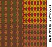 set argyle seamless texture... | Shutterstock .eps vector #339400241