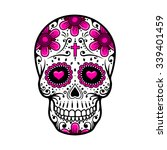 day of the dead skull. skull... | Shutterstock .eps vector #339401459