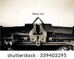 thank you word typed on a... | Shutterstock . vector #339403295