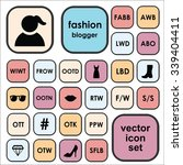 set of vector icons for fashion ... | Shutterstock .eps vector #339404411