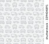car seamless pattern | Shutterstock .eps vector #339404891