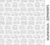 car seamless pattern | Shutterstock .eps vector #339404891