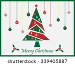 merry christmas abstract tree | Shutterstock .eps vector #339405887