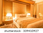 Stock photo hotel room with modern interior 339410927