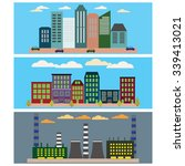 industrial  business city and... | Shutterstock .eps vector #339413021